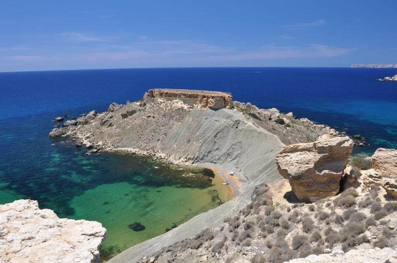 Ghajn tuffieha bay and clay cliffs