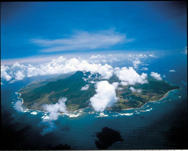Nevis aerial view