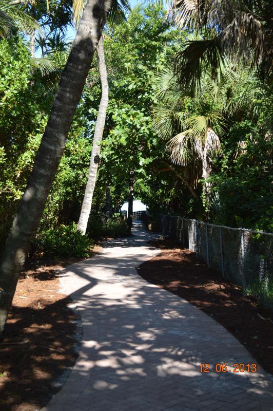 Walk way to beach