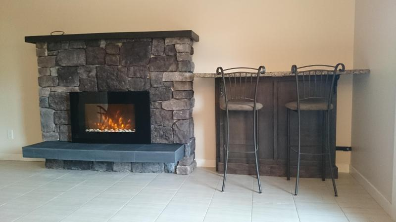 fireplace, not in all suites