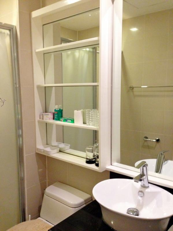 Complete with shelves, mirrors, and bathroom accessories