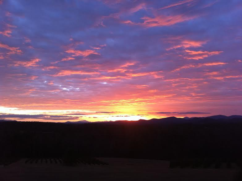 Come and enjoy a.... Sunset over the Blue Ridge