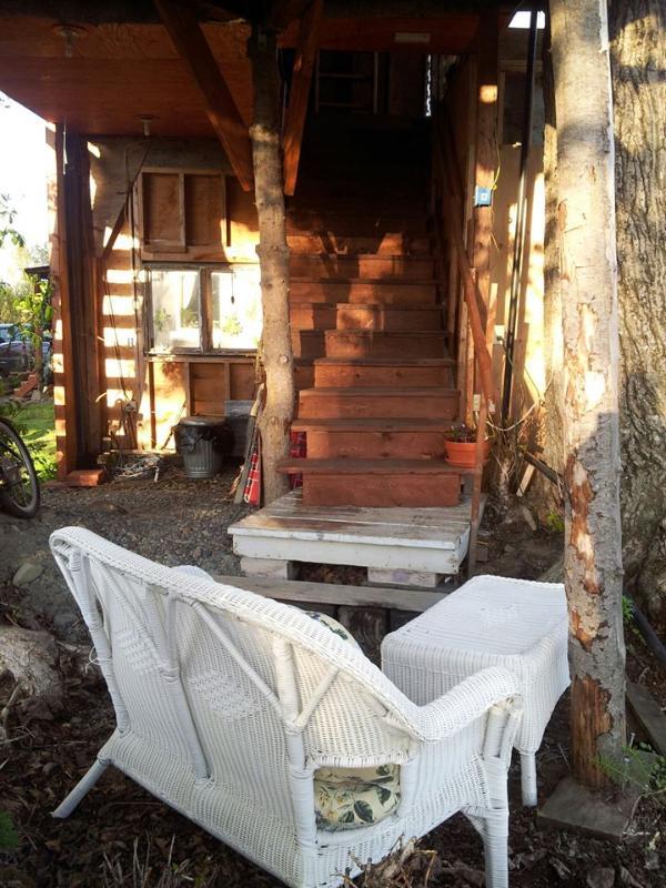 escaliers à treehouse