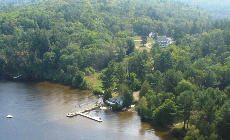 Ariel photograph of Clyffe House property