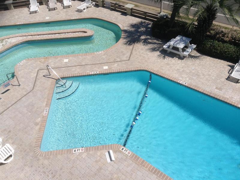 Pool at villa 1