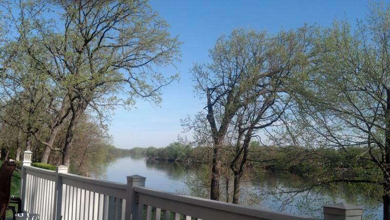 Uitzicht vanaf dek (Up stream)