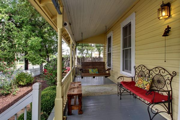 Yellow Haus- Front Porch