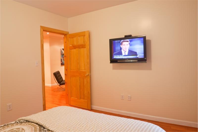 Bedroom 1 Door to bedroom - view of living area