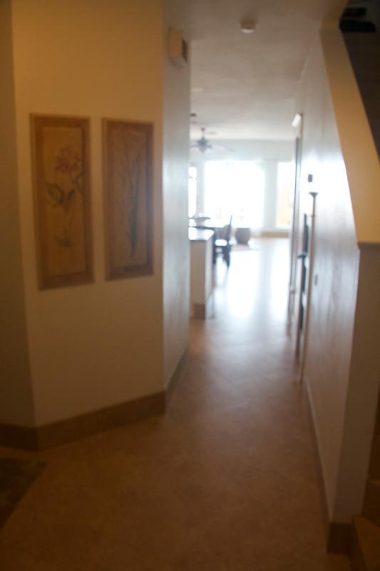 Hallway to 1st floor living area