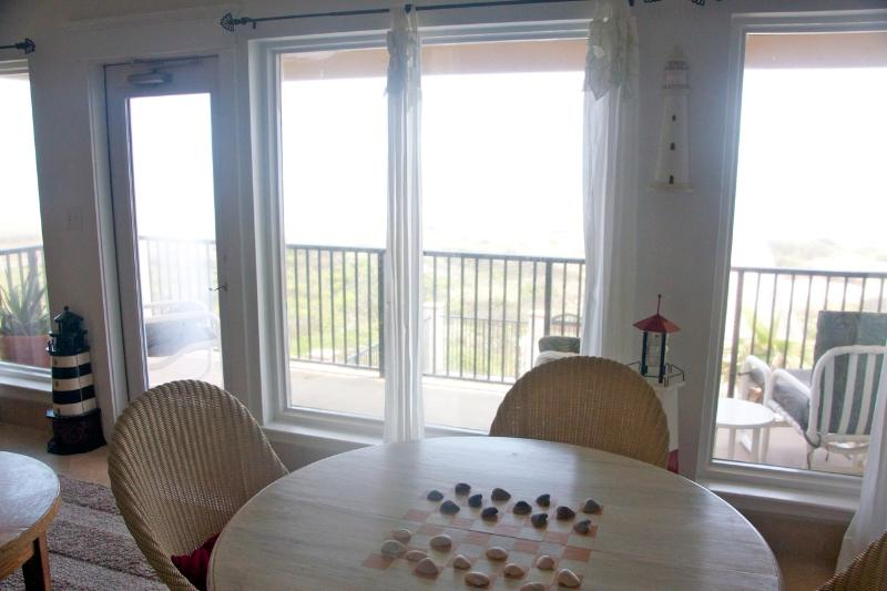 View of balcony adjoining game room