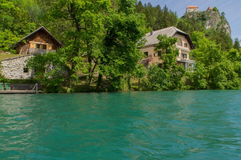 View of the apartment from lake Bled