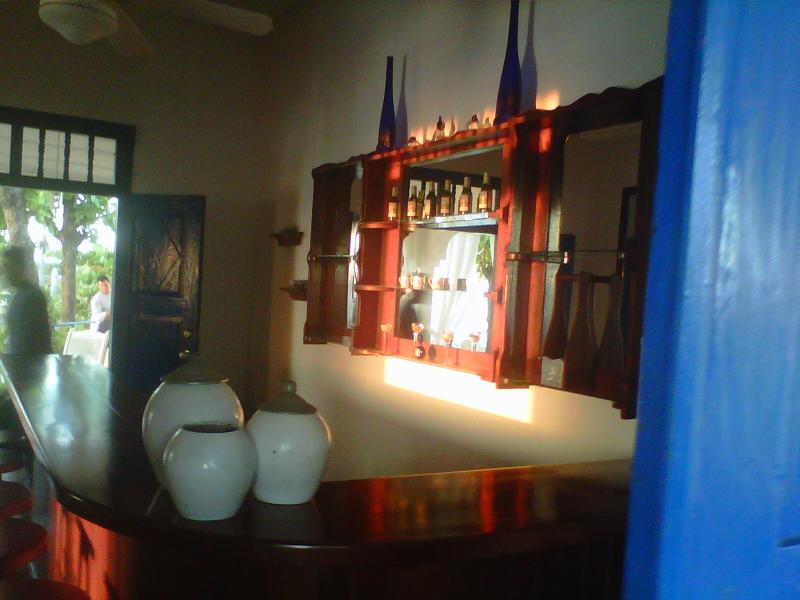 Mahogny Bar för parterna