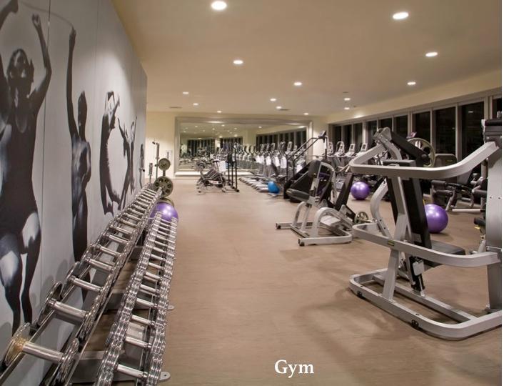 Large gym, great Technogym equipment