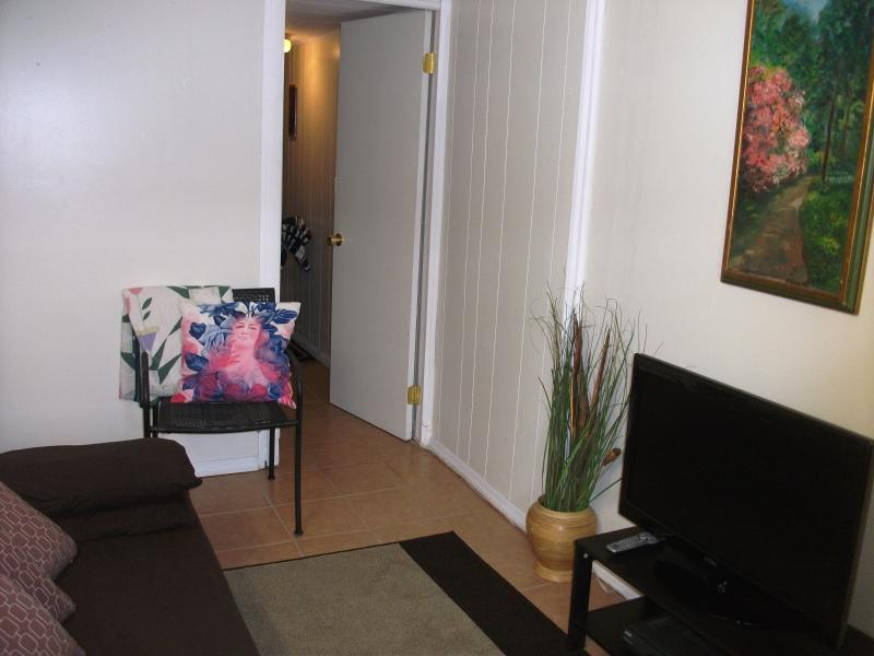 Cozy Living Room w/Fold Down Futon, Free Wireless Internet & Cable TV