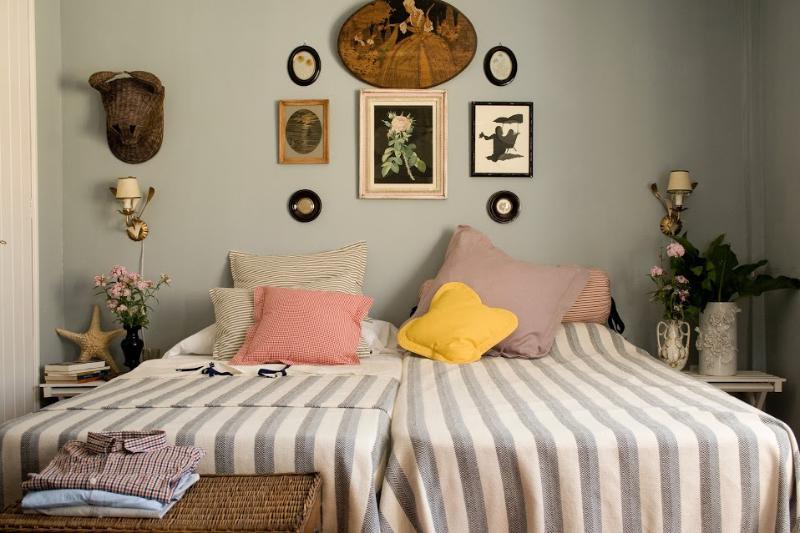 Slaapkamer 3, twee bedden, aan Noord