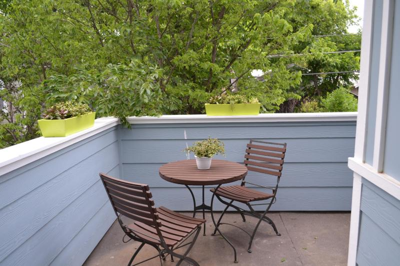 Guest house balcony