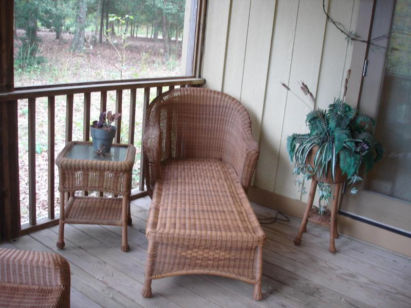 Relax on screened porch