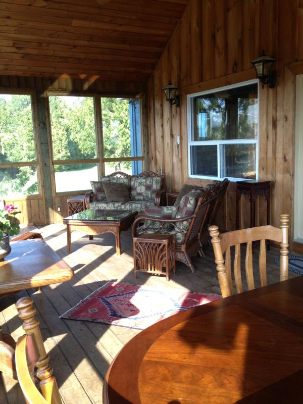 Summer Room Screened & glassed porch