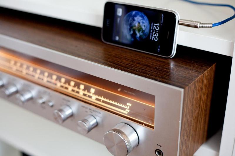 Plug in your I Phone to enjoy the sound system