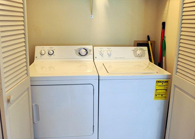 Washer and Dryer located downstairs.
