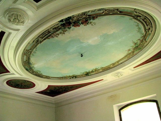 ceiling of the salon