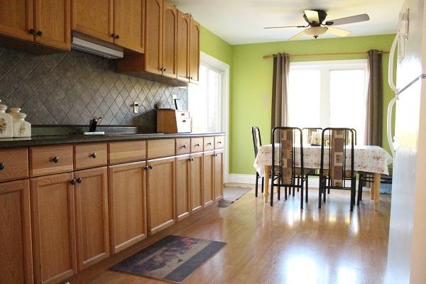 Kitchen -  with a walk off second floor deck