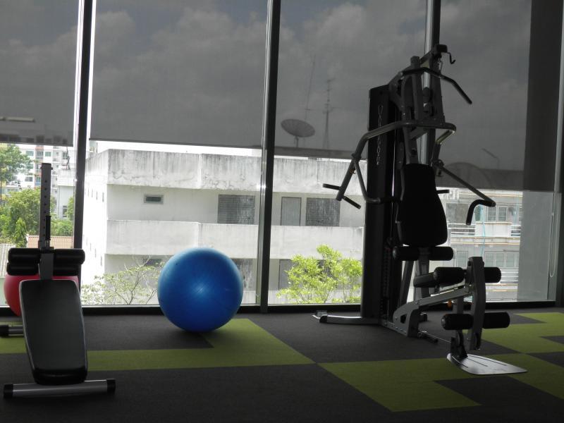 El gimnasio totalmente equipado