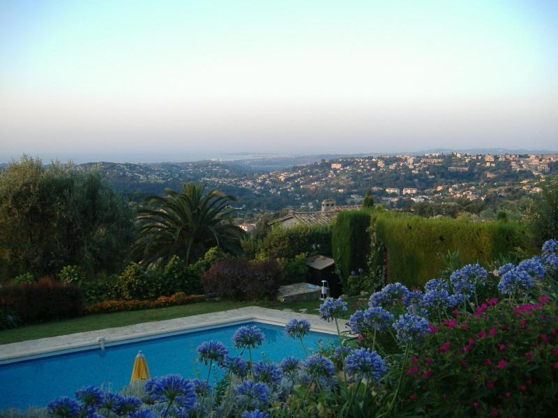 View over garden to Cap d'Antibes