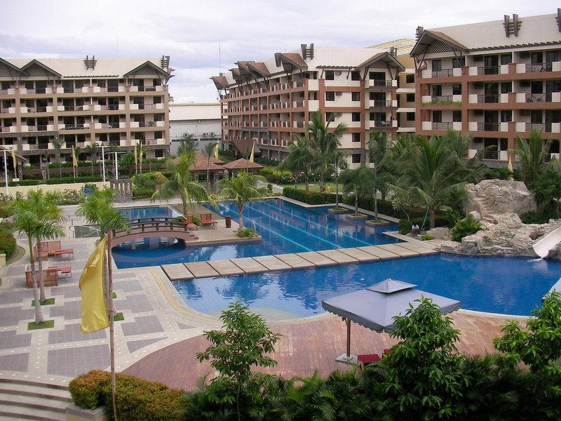Great poolside with lap, family and kids' pools plus waterslide and playground...
