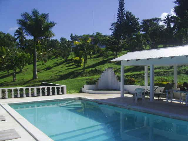 Shotover Gardens Estate - cabin with pool, holiday rental in Buff Bay