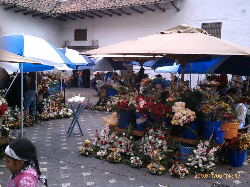 Flower Market next to Cathedral