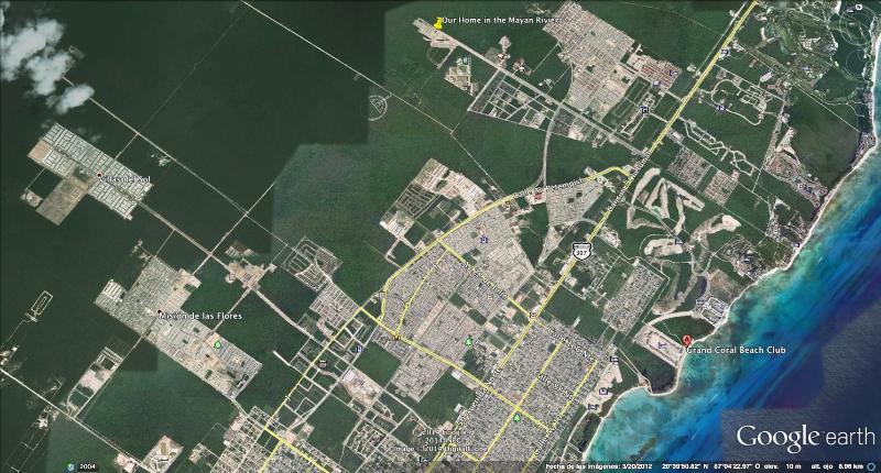 Mapa que muestra la ubicación exacta de la casa.