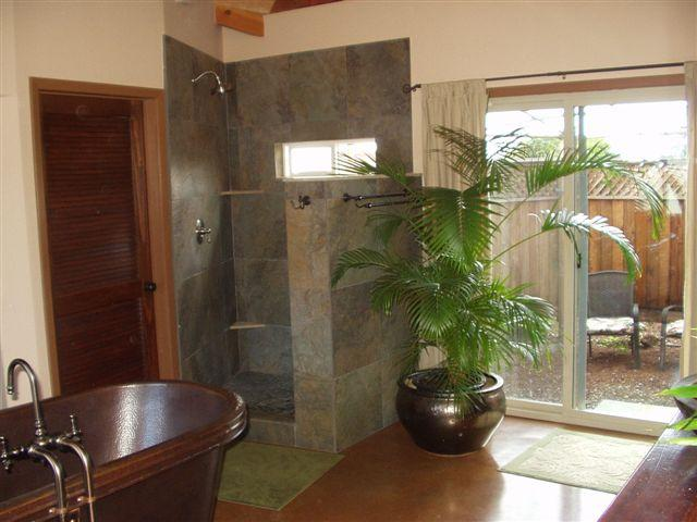 Shower and Private Garden