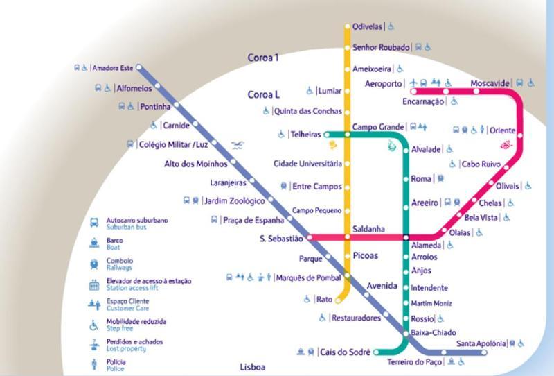 Subway map. (Intendente station).