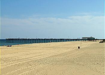 Outer Banks Pier, 5 minute walk south of rental. 7/2011  when the beach replenishment was completed.