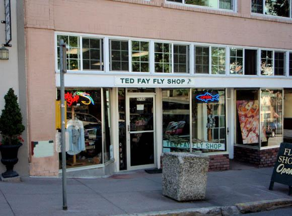 Ted Fay Fly Shop is in walking distance from the haus