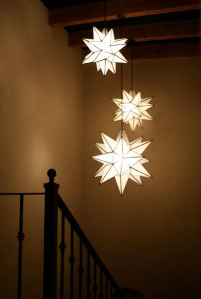 Iluminação na escadaria