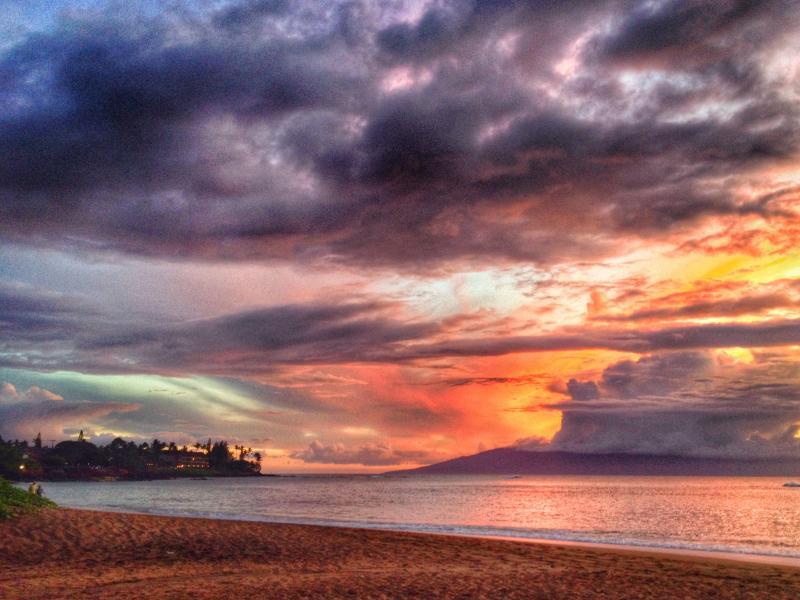 Sunset on Kahana Beach