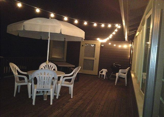 New Outdoor lighting on the deck!