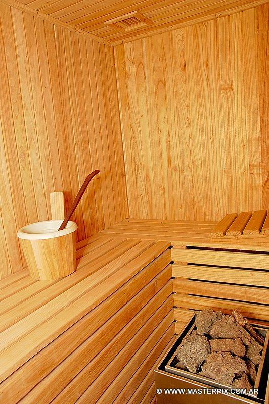 Sauna located in the building for guests to enjoy