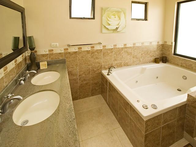 Master bath w/jacuzzi & shower