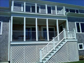 Decks facing beach
