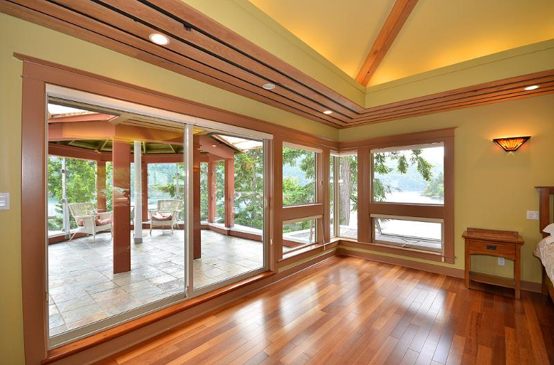 Master bedroom with private gazebo access
