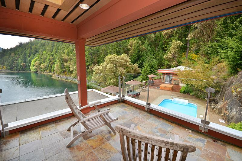 Private balcony for the master bedroom