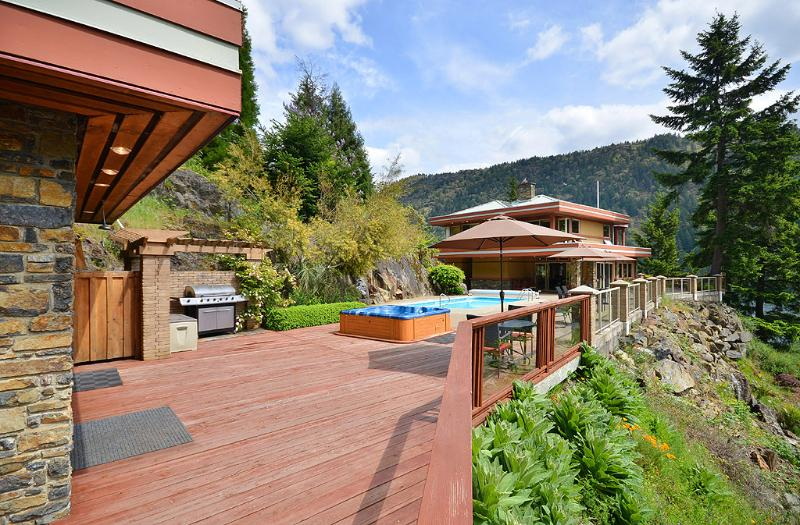Terrific patio living spaces with views
