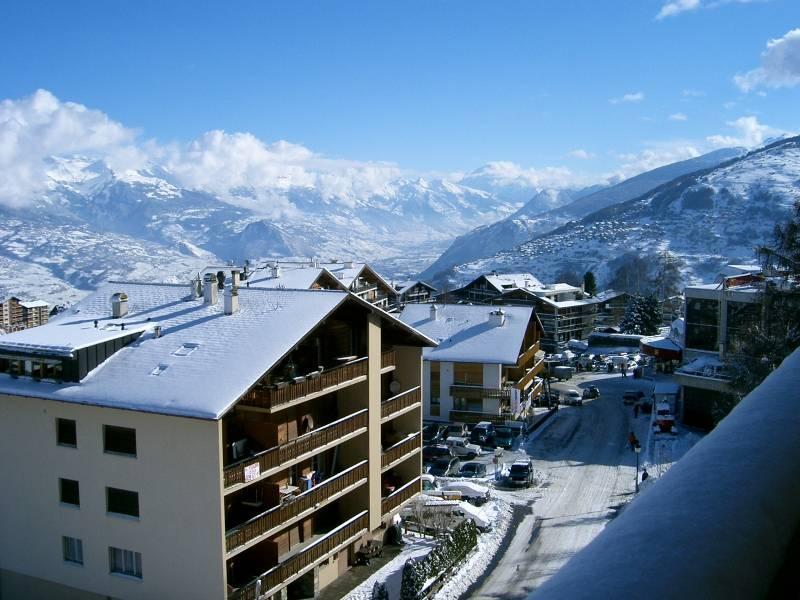 In de buurt van de skilift