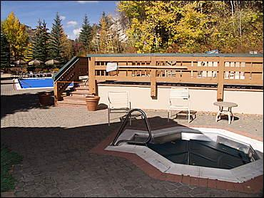 The hot tub is open year-round.