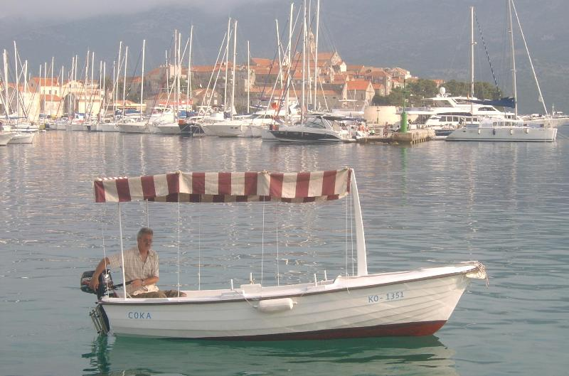 Motor boat to rent for sailing or fishing