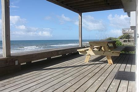 Oceanfront Covered Deck