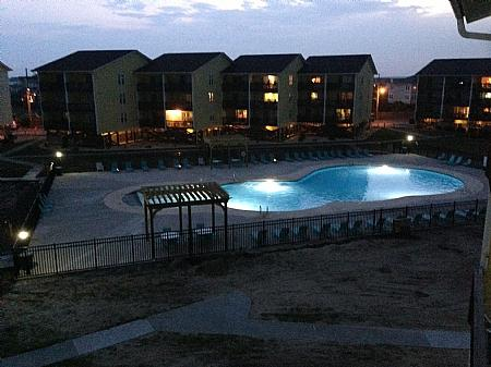 Surf Condos Community Pool at night II